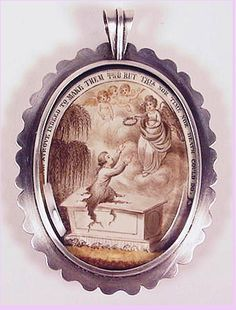 """Mourning pendant: """"He Strove Indeed to Make Them Two But This Nor Time Nor Death Could Do."""""""