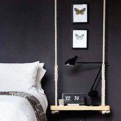 Rope Suspended Nightstand