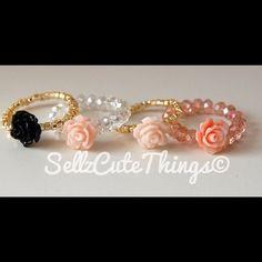 Pretty little rings. #rings #jewelry #flower