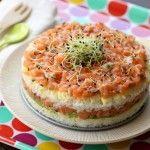 Recette japonaise : sushi cake