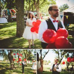 balloon, green weddings