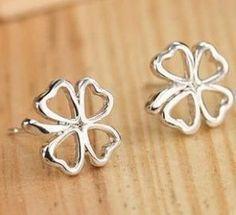 Silver 4 Leaf Clover Earrings Only $0.54 w/ FREE Shipping! (reg $9.98)