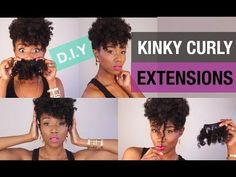 ▶ DIY | AFFORDABLE KINKY CURLY AFRO CLIP IN EXTENSIONS - YouTube