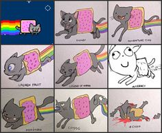Nyan cat in different styles.