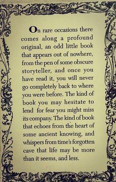 Odd little book.