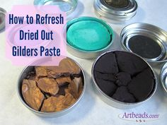 How to Refresh Dried Gilders Paste