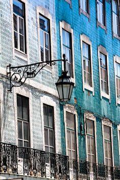 Blue facades, Lisbon Portugal