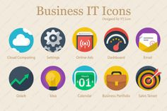 Creative Business IT Icons on Creative Market.