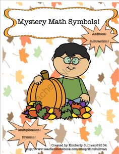 FREE Mystery Math Symbols! Early Finishers! Add Subtract Multiply Divide from Kimberly Sullivan on TeachersNotebook.com -  (10 pages)  - Fun and engaging! Great for centers, early finishers, whole class, or small groups!