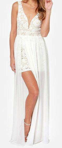 White lace maxi