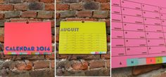 2014 Colour Calendar
