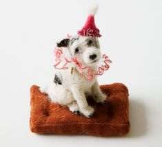 Felted dogs...soooo cute! They look real to me...