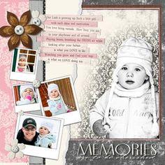 Divine Memories - Divine #Digital #Scrapbooking Layout from Creative Memories    http://www.creativememories.com
