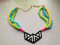 Neon spring necklace hama by Jannieel