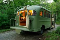 Comprehensive restoration of a 1959 Chevrolet Viking short bus. Designed to safely travel 12 passengers and driver on the road, it converts to guest quarters for two as two single beds or joined in the center as a queen. Complete with plumbing (toilet and sink) and power (120v and 12v)