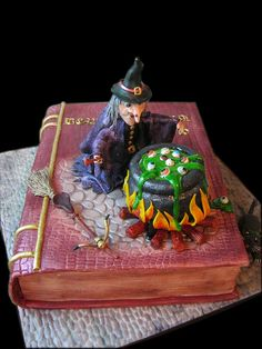Witch cake - by MarinaD @ CakesDecor.com - cake decorating website