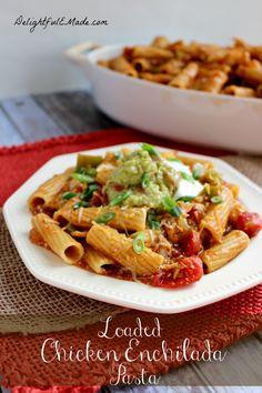 Loaded Chicken Enchilada Pasta by Delightful E Made