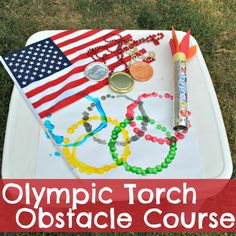 Camp Sunny Patch - Olympic Torch Obstacle Course for Kids