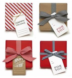 pretty cute packaging! giftwrap, gift wrapping, sugar paper, ribbon, christmas, papers, gift tags, holiday gifts, happy holidays