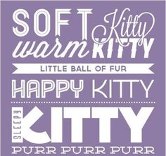 Soft Kitty <3