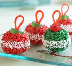 Rice Krispie Treat Ornaments