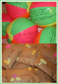 Beach Ball Party Invites