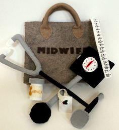 Midwife Felt Bag