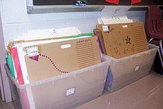 teaching palette - organization  Use to store elementary portfolios