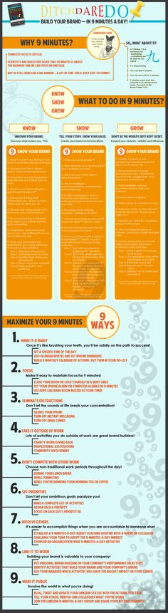 How To Build Your Personal Brand In 9 Minutes Each Day [Infographic] - Bit Rebels