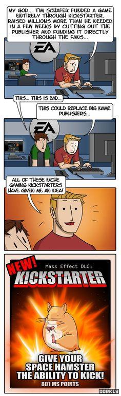 Kickstarting Mass Effect for a Kicking Hamster