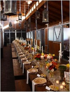 Country Western Wedding Reception