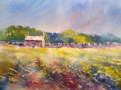 Isn't this a vibrant landscape! Learn how to paint it in Joanne Thomas' new book. Find out more at BrushoSecrets.com