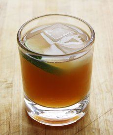 Dark & Stormy Cocktail: Dark rum, ginger beer, and some lime.