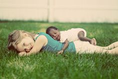 Photo idea... have baby lay on top of big sibling!!!