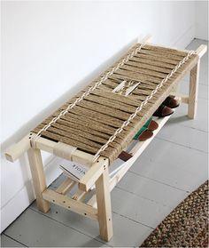 diy woven bench merrythought