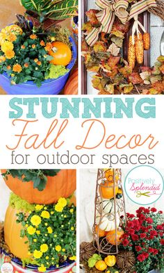 Spruce up your outdoor spaces this fall with these stunning, easy-to-execute ideas. #fall #decorating #autumn #pumpkins