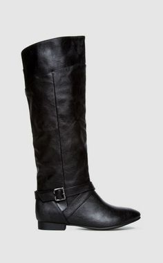 Shirley Black Leather Boots