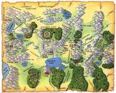 Shannara Four Lands map covering original Shannara series by Terry Brooks