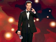Matthew McConaughey picks up another trophy – this for his acting work on HBO's True Detective – at the Critics' Choice Television Awards at the Beverly Hilton in Beverly Hills on Thursday night.