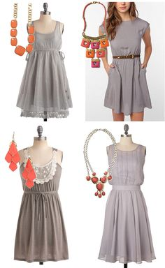 Mix or Match? {Bridesmaids' Dresses} | Engaged & Inspired