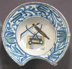 Late 18th century Anabaptist barber's bowl
