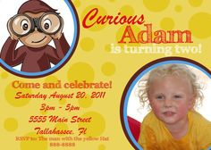 Curious George Birthday Invites