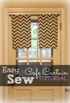 Easy Sew Cafe Curtain Tutorial with step by step directions! Use your favorite fabric or even remnants to create a fun new look in your home.