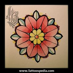 American%20Traditional%20Flower%20Tattoos%201 American Traditional Flower Tattoos
