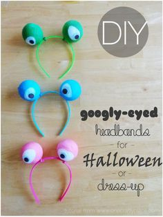MADE IT!  I'd use larger balloons than you think you'll need to make it easier to get them around the styrofoam ball. googly-eye-headband-tutorial