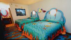Disney's Art of Animation Resort opens in 2012 at Walt Disney World. The Little Mermaid rooms will have an under the sea feel, and will be standard hotel rooms, with one or two beds, one bathroom and no kitchenette.