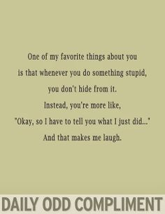 Daily Odd Compliment | Funnies