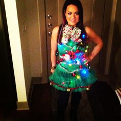 Tacky Christmas tree dress ... That I made!!