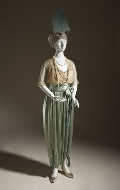 Lounging Pajamas, Callot Sœurs ((Couture house) France, Paris, circa 1890-circa 1950): ca. 1913, French, silk net (tulle) and silk satin (charmeuse) with metallic-thread passementerie and silk tassels.