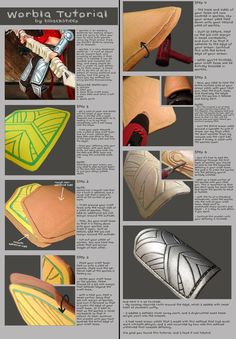 This Worbla tutorial by BllackSheepis an ingenious method to creating 3d texture on your Worbla armor! +fav the original here.